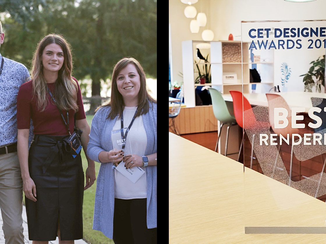 2019 CET Award winners and 2nd Place for Rendering award.