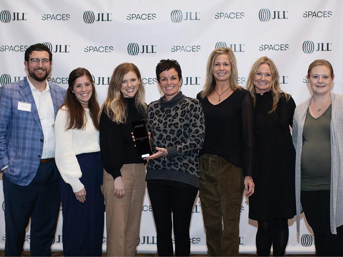 Pigott team accepting 2019 Spaces Award for Medium-Sized Organization.