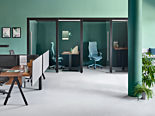 Commercial office space with modern office furniture and design.