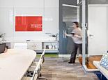 Pigott, Des Moines Showroom, Office Furniture, Herman Miller, Eames Aluminum, DIRTT, Conference Room