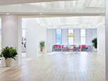 bright, airy, and colorful living office herman miller certified dealer