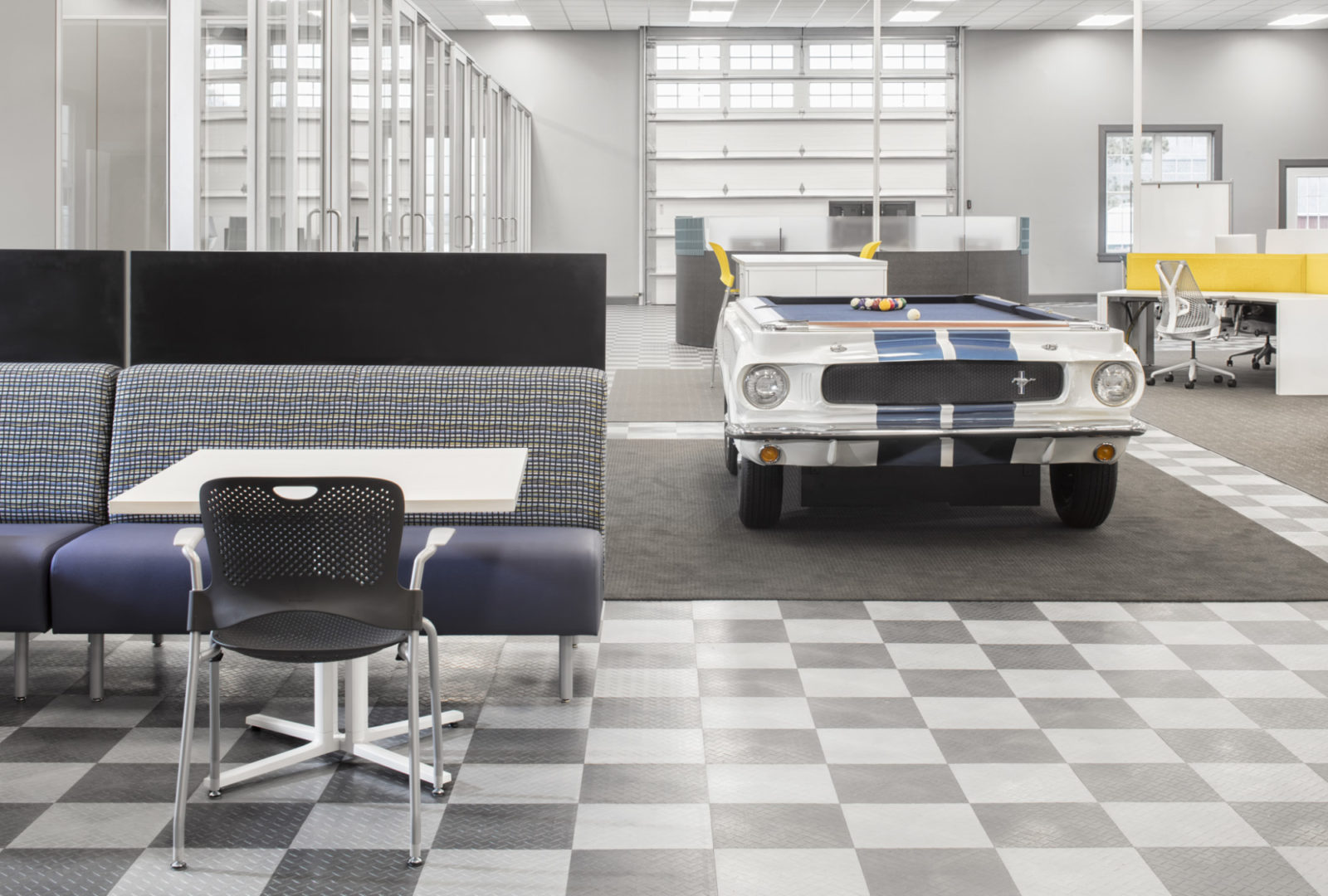 Buzz Creative, Pigott, Herman Miller Furniture, Open Office, Ford Mustang, DIRTT Walls, Sayl Chair, Caper Chair, Metaform Portfolio, Layout Studio