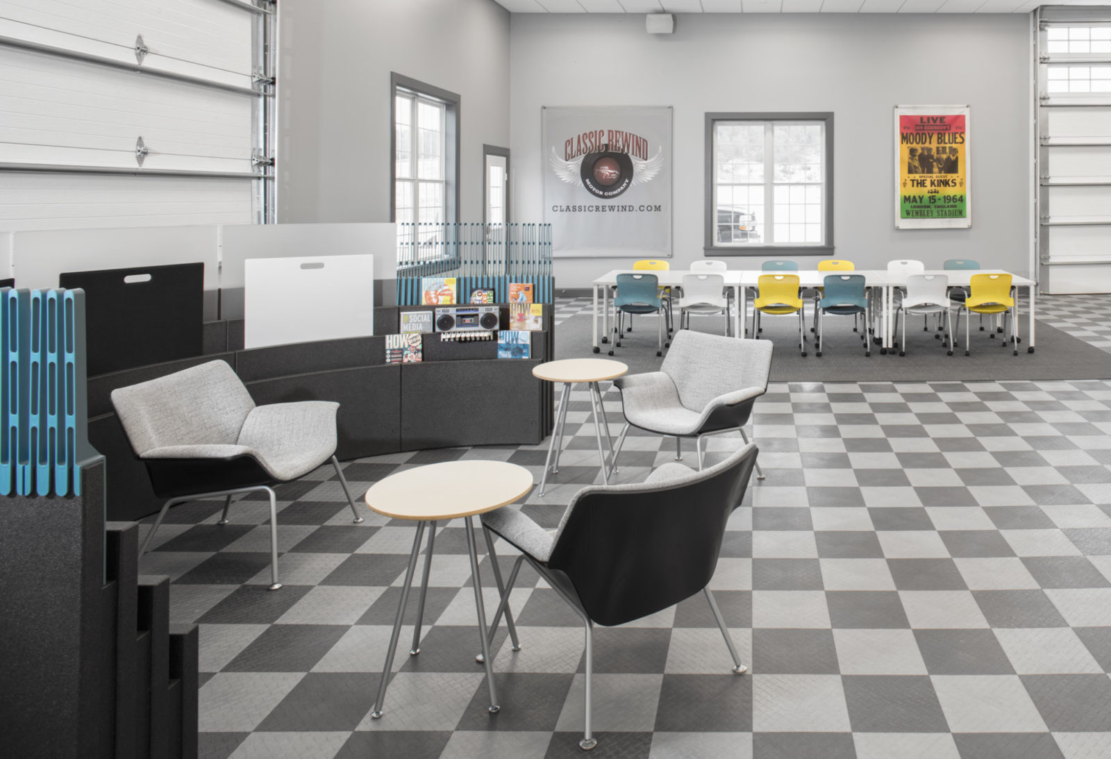 Buzz Creative, Pigott, Herman Miller, Office Furniture, Interior Design, Iowa, Metaform Portfolio, Swoop, Caper Chair, Open Office, Meeting Space