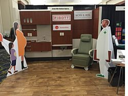 Pigott's booth at the Healthcare Annual Meeting showcasing Herman Miller Product