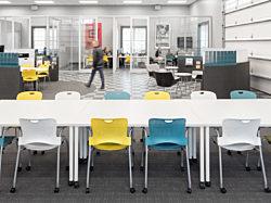 Buzz Creative, Pigott, Herman Miller Furniture, Conference Table, Caper Chair, DIRTT Walls, Open Office, Natural Light, Metaform Portfoliio