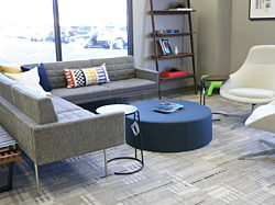 Pigott office furniture showroom in Cedar Rapids, Iowa.