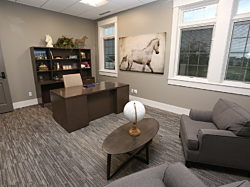 DRA Properties, Pigott, Private Office, Home Office, OFS Slate, Commercial Interior Design