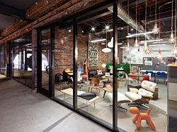 Pigott, Dubuque Showroom, Dubuque Millwork District, Iowa Office Furniture, Herman Miller, Eames Lounge, Office Furniture