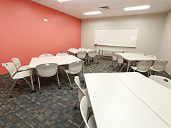 Goodwill Industries, Pigott, Des Moines Iowa, Herman Miller, Office Furniture, Commercial Design, Caper Chair, Meeting Space