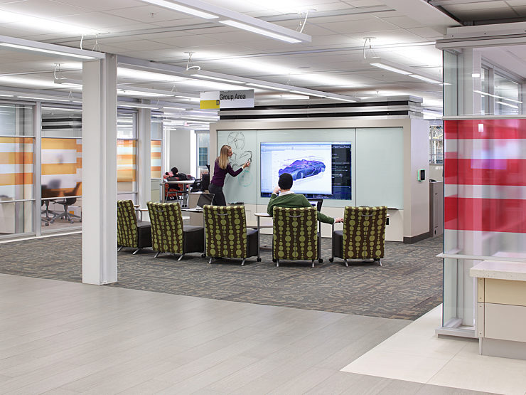 University of Iowa Library Learning Commons featuring DIRTT product and designed by Pigott